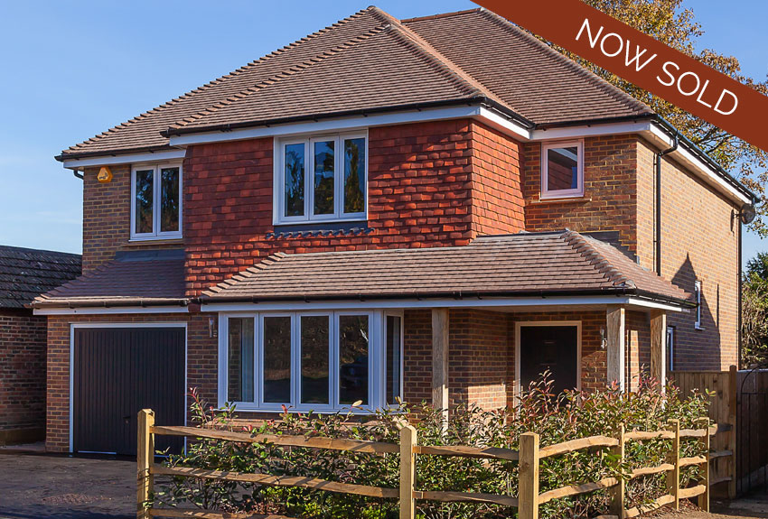 An exceptional, brand new, detached family home with four bedrooms and three bathrooms located in the market town of Horsham, West Sussex.